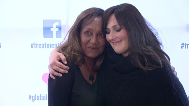 ricki lake and marie da silva at ricki lake and friends team up with pepfar to launch #treatmentforall on facebook a social campaign to support... - retrovirus stock videos and b-roll footage