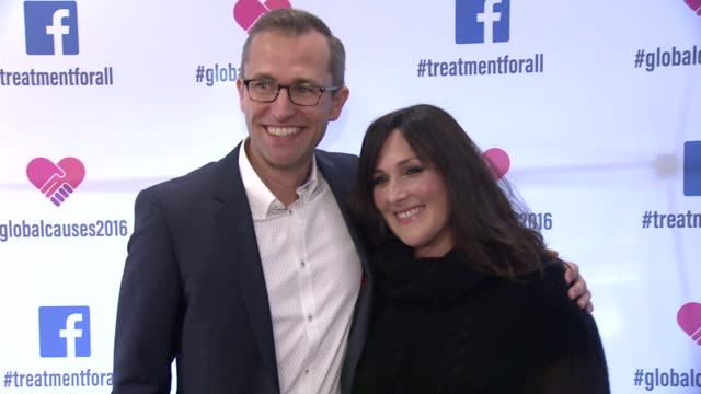 ricki lake and tudor havriluc at ricki lake and friends team up with pepfar to launch #treatmentforall on facebook a social campaign to support... - retrovirus stock videos and b-roll footage