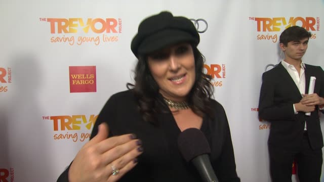ricki lake on why she supports the trevor project what she is most looking forward to and why katy perry is deserving of the trevor hero award also... - the trevor project stock videos and b-roll footage