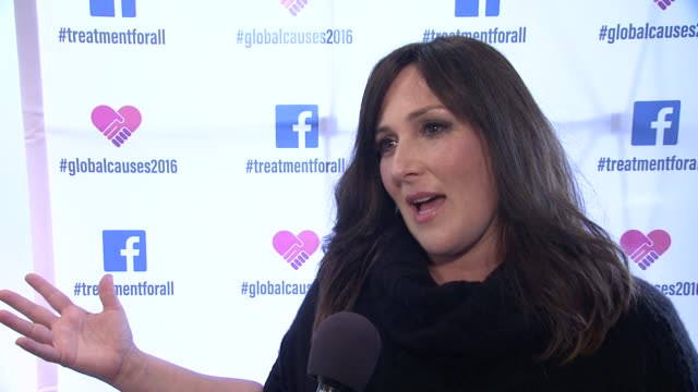 interview ricki lake talks about raising awareness at ricki lake and friends team up with pepfar to launch #treatmentforall on facebook a social... - retrovirus stock videos and b-roll footage