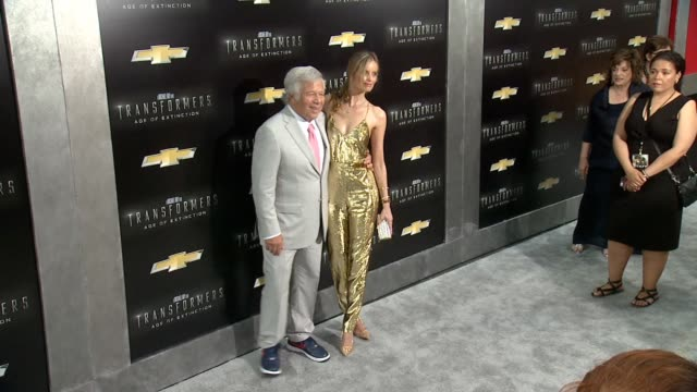 """ricki lander and robert kraft at """"transformers: age of extinction"""" new york premiere at ziegfeld theatre on june 25, 2014 in new york city. - new age stock videos & royalty-free footage"""