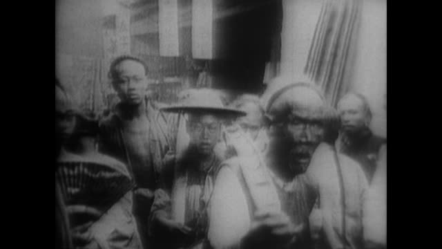 rickshaws handcarts and streets crowded with traditional chinese working selling carrying buckets moving goods feeding their children and then... - 1966 stock videos & royalty-free footage