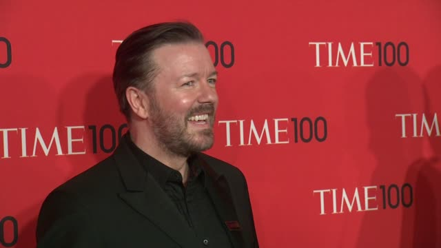 ricky gervais at 2013 time 100 gala - arrivals at frederick p. rose hall, jazz at lincoln center on april 23, 2013 in new york, new york - ricky gervais stock videos & royalty-free footage