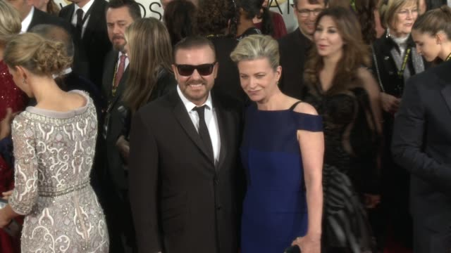 Ricky Gervais at the 72nd Annual Golden Globe Awards Arrivals at The Beverly Hilton Hotel on January 11 2015 in Beverly Hills California