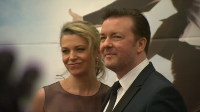 ricky gervais at the invention of lying bafta screening at london england. - ricky gervais stock videos & royalty-free footage
