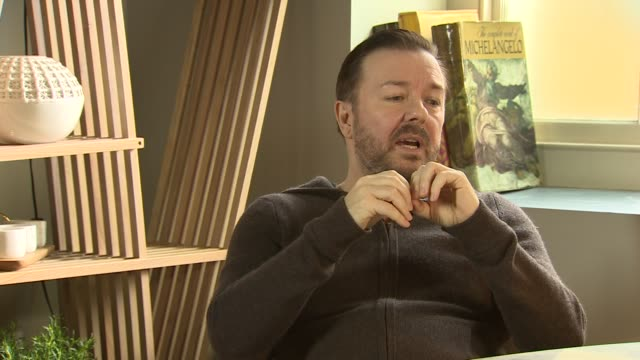 interview ricky gervais on going head to head with jeremy clarkson the netflix model at 'special correspondents' interview on april 25 2016 in london... - jeremy clarkson stock videos & royalty-free footage