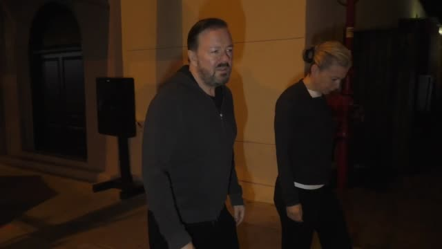 ricky gervais on hosting award shows outside craig's in west hollywood at celebrity sightings in los angeles on january 03, 2020 in los angeles,... - ricky gervais stock videos & royalty-free footage
