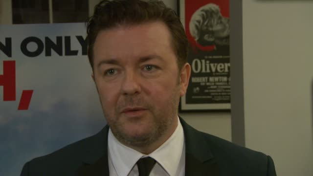 ricky gervais on the premise of the film, on writing and directing, on working with his co-stars at the invention of lying bafta screening at london... - ricky gervais stock videos & royalty-free footage