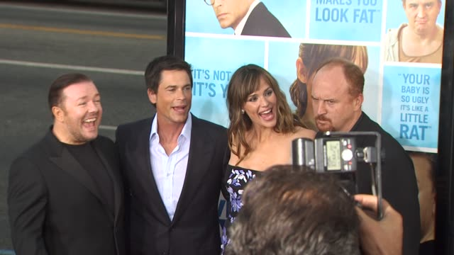 Ricky Gervais Rob Lowe Jennifer Garner Louis CK at the 'The Invention Of Lying' Premiere at Hollywood CA