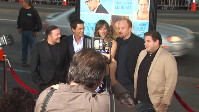 Ricky Gervais Rob Lowe Jennifer Garner Louis CK Jonah Hill at the 'The Invention Of Lying' Premiere at Hollywood CA