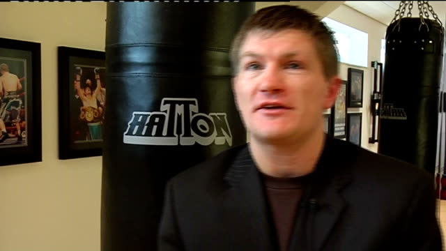 Cheshire Hyde Hatton House INT Ricky Hatton interview SOT Delighted to be going into promoting / Has lots of good fighters on his books / Has just...