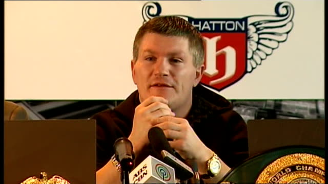 ricky hatton press conference; - will go straight into 12 week training camp after his holiday. on being trained by floyd mayweather senior. - on how... - holiday camp stock videos & royalty-free footage