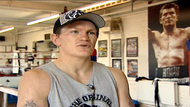 scientific analysis of his left hook before world championship fight england int ricky hatton interview sot on value of love of fans and... - world championship stock videos & royalty-free footage