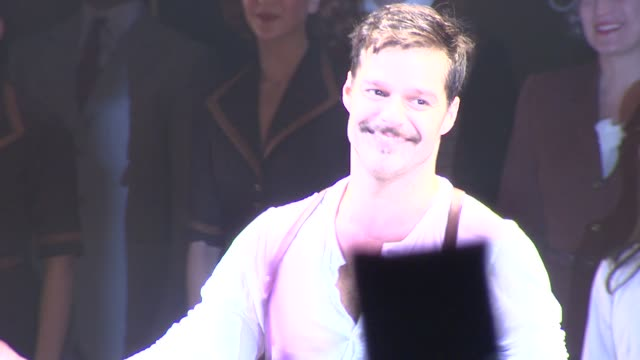 ricky martin at evita broadway revival curtain call and press conference on in new york - revival stock videos & royalty-free footage