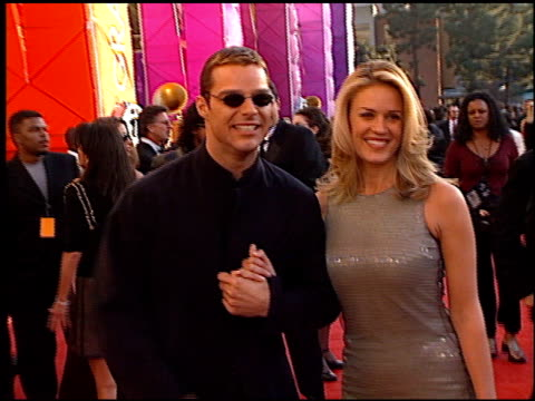 ricky martin at the 1999 grammy awards at the shrine auditorium in los angeles california on february 24 1999 - ricky martin stock videos and b-roll footage