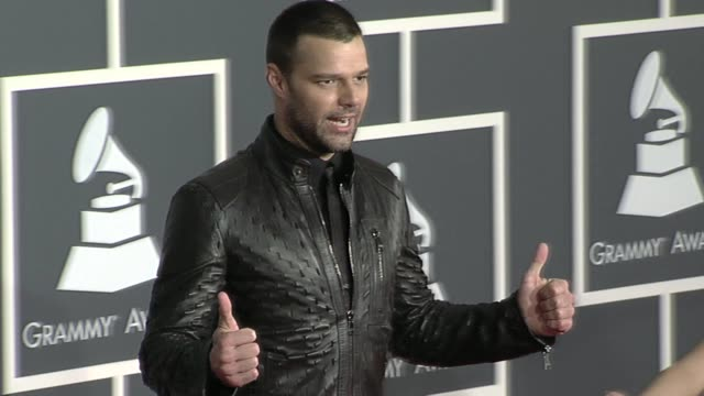 ricky martin at the 52nd annual grammy awards arrivals at los angeles ca - ricky martin stock videos and b-roll footage