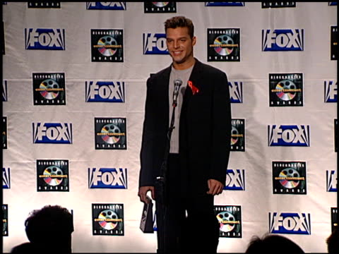ricky martin at the blockbuster awards 99 at the shrine auditorium in los angeles california on may 25 1999 - ricky martin stock videos and b-roll footage