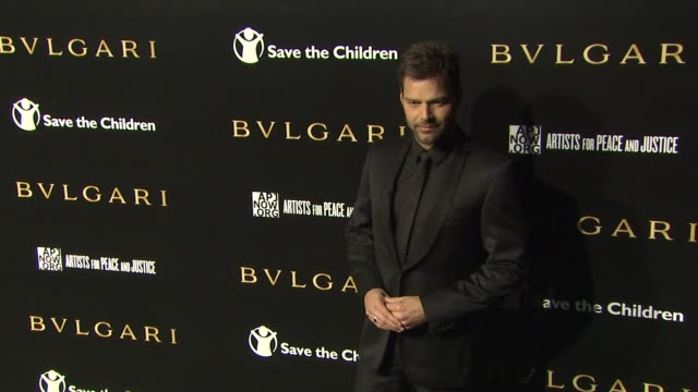 ricky martin at the bulgari fundraiser benefitting save the children and artists for peace justice at beverly hills ca - ricky martin stock videos and b-roll footage