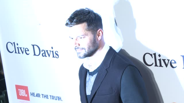 ricky martin at the pregrammy gala and salute to industry icons honoring martin bandier at the beverly hilton hotel on february 07 2015 in beverly... - the beverly hilton hotel stock videos & royalty-free footage