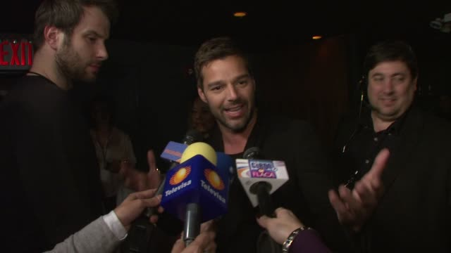 ricky martin at the target and ricky martin celebrate launch of target's exclusive deluxe version of musica alma sexo at new york ny - ricky martin stock videos and b-roll footage