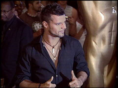 ricky martin at the world music awards 2005 at the kodak theatre in hollywood california on august 31 2005 - ricky martin stock videos and b-roll footage