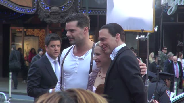 ricky martin elena roger and michael cerveris at the 'good morning america' studio ricky martin elena roger and michael cerveris at on april 12 2012... - michael cerveris stock videos and b-roll footage