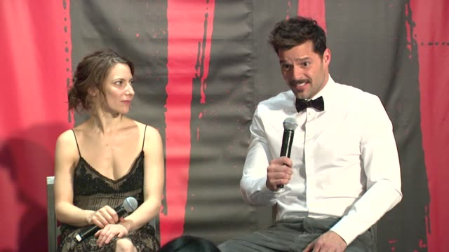 ricky martin on being nervous at evita broadway revival curtain call and press conference on in new york - ricky martin stock videos and b-roll footage