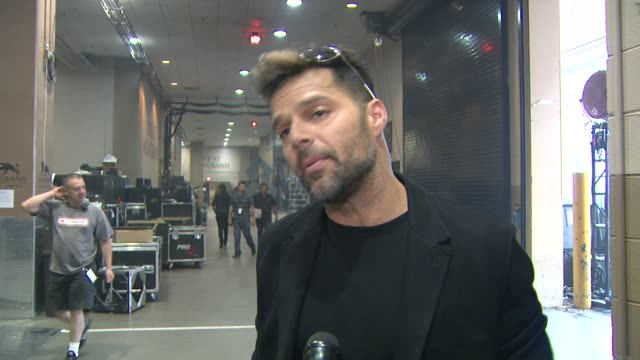 INTERVIEW Ricky Martin on performing on the show and on when he made it on the billboard chart Billboard Music Awards 2014 Rehearsals Day 2 on May 17...