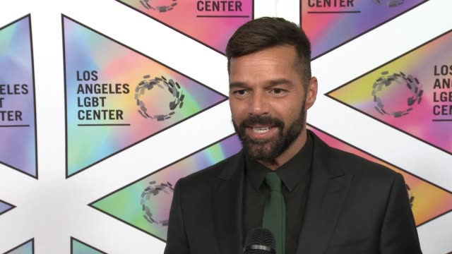 INTERVIEW Ricky Martin on the event at Los Angeles LGBT Center's 49th Anniversary Gala Vanguard Awards in Los Angeles CA