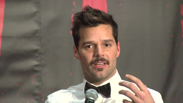 ricky martin on the similarities between his music career and broadway at evita broadway revival curtain call and press conference on in new york - ricky martin stock videos and b-roll footage