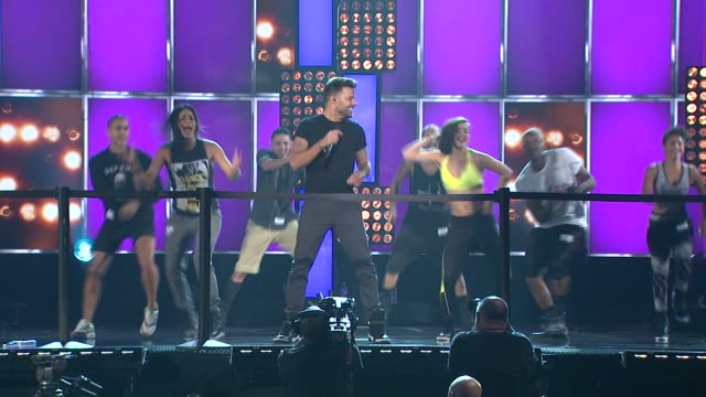ricky martin rehearsal - billboard music awards 2014 - rehearsals day 2 on may 17, 2014 in las vegas, nevada. - day 2 stock videos & royalty-free footage