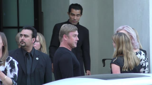 ricky schroder arriving to a private party at spagos restaurant in beverly hills - celebrity sightings on aug 12, 2015 in los angeles, california. - リック シュローダー点の映像素材/bロール