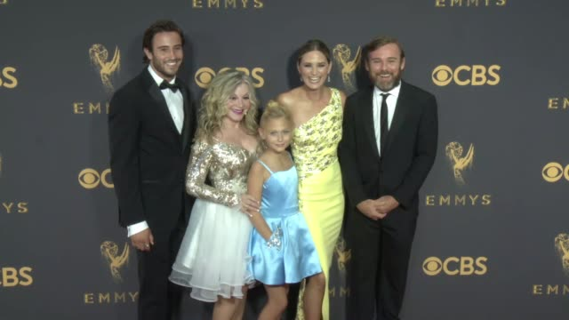 ricky schroder at 69th annual primetime emmy awards in los angeles, ca 9/17/17 - annual primetime emmy awards stock-videos und b-roll-filmmaterial
