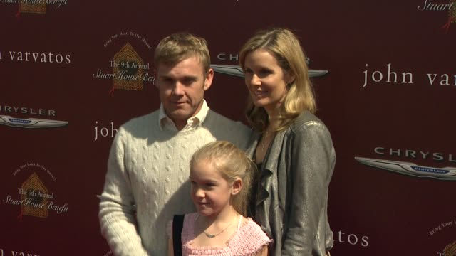 ricky schroder at 9th annual john varvatos stuart house benefit on 3/11/12 in los angeles, ca - リック シュローダー点の映像素材/bロール