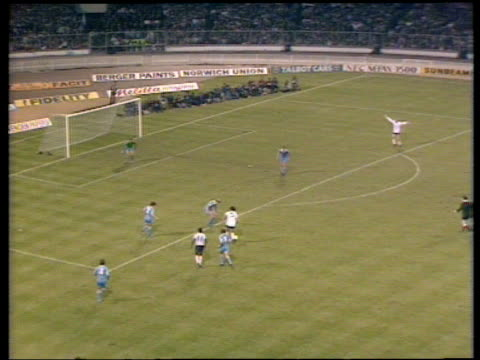 stockvideo's en b-roll-footage met ricky villa intricately dribbles around several defenders before scoring match winner tottenham hotspur vs manchester city 1981 fa cup final replay... - fa cup