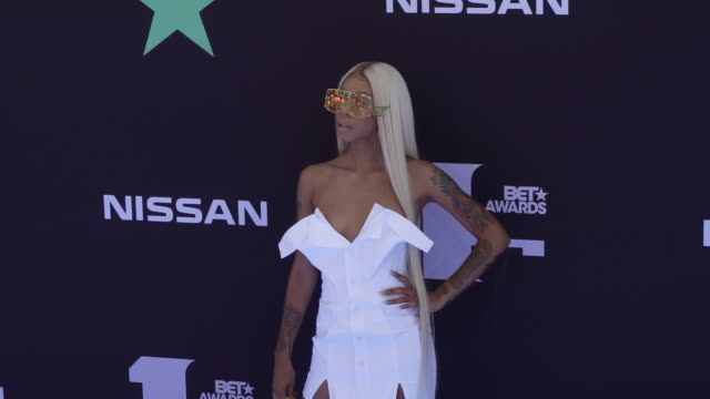 rico nasty at the 2019 bet awards at microsoft theater on june 23, 2019 in los angeles, california. - arts culture and entertainment stock videos & royalty-free footage