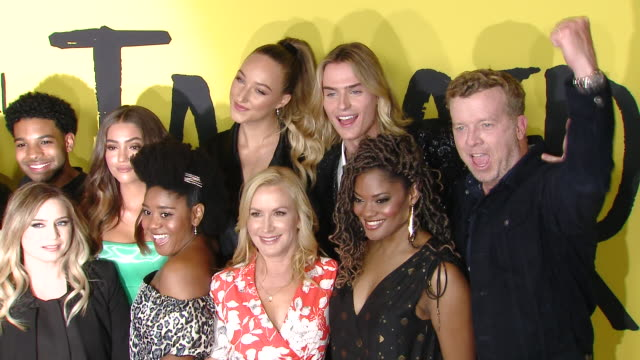 rico paris clara wilsey anjelika washington angela kinsey sabrina carpenter nzingha stewart ava michelle luke eisner corey l marsh at the netflix... - angela kinsey stock videos and b-roll footage