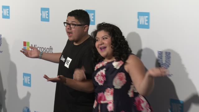 rico rodriguez and raini rodriguez at we day california at the forum on april 07 2016 in inglewood california - inglewood stock videos and b-roll footage