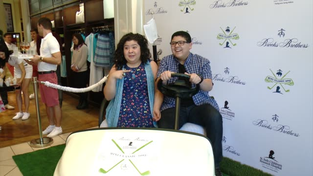 rico rodriguez raini rodriguez at brooks brothers hosts mini classic golf tournament to benefit st jude children's research hospital at brooks... - st. jude children's research hospital stock videos and b-roll footage