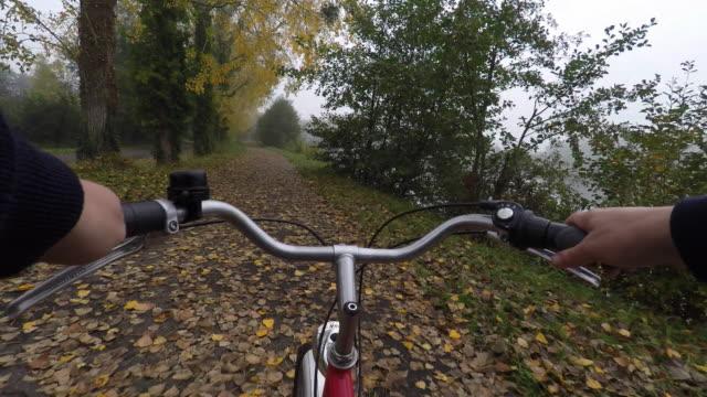 POV of ride a bike