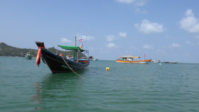 pov / a ride across the sea with fishing boats - gulf of thailand stock videos & royalty-free footage