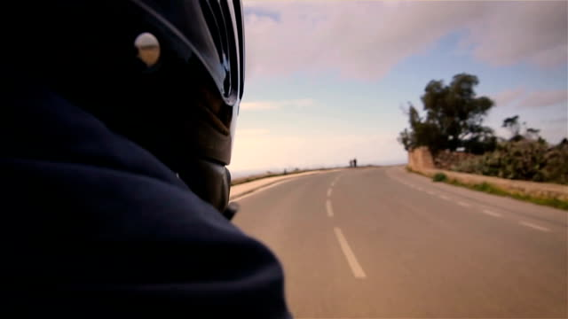 Ride on motorcycle,passenger's point of view
