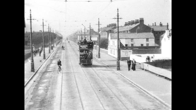 ride on the new lytham tram 1903 - blackpool stock-videos und b-roll-filmmaterial