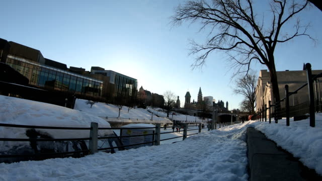 rideau canal in ottawa - rideau canal stock videos & royalty-free footage