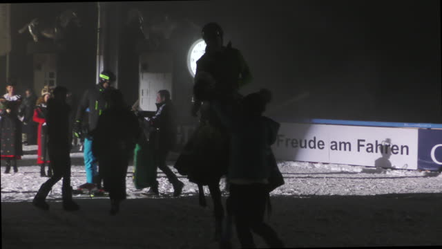 riders and horses before the night turf competition on february 5th 2016 in st moritz no - nordic skiing event stock videos and b-roll footage