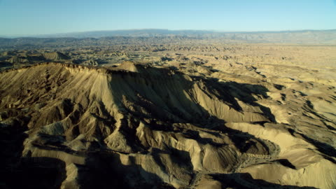 ridge in anza-borrego state park ca - extreme terrain stock videos & royalty-free footage