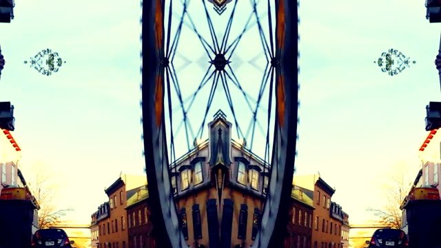 kaleidoscope -riding bicycle in city abstract - kaleidoscope pattern stock videos & royalty-free footage