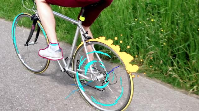vídeos y material grabado en eventos de stock de montar bicicleta - miembro humano