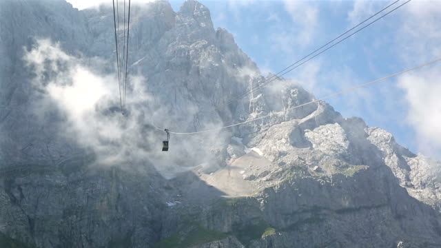 riding cable car at Zugspitze Alpine Alps mountain range Landscape top of Germany