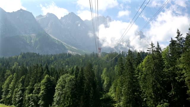 reiten seilbahn oben zugspitze alpinen alpen gebirge landschaft deutschlands - sehenswürdigkeit stock-videos und b-roll-filmmaterial